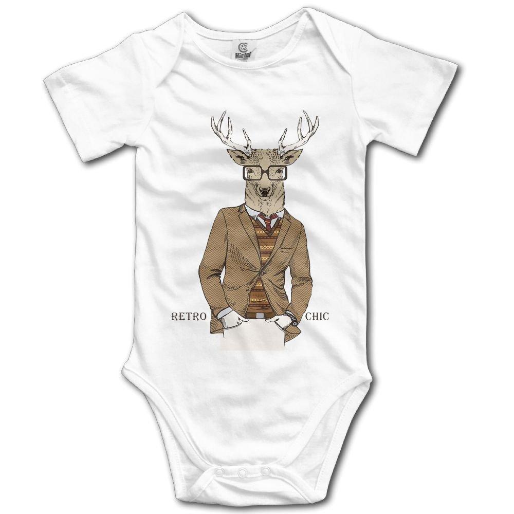 Rainbowhug Mule Deer Elk Animals Unisex Baby Onesie Cartoon Newborn Clothes Funny Baby Outfits Comfortable Baby Clothes