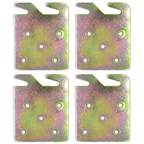 Rails Bed Iron - Richohome Wood Bed Rail Hook Plates - Pack of 4