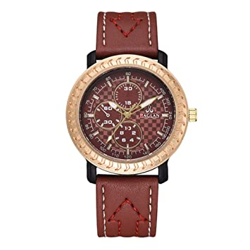 Longra Relojes Vintage para Hombres, Relojes de Pulsera de Cuarzo, números Romanos: Amazon.es: Deportes y aire libre