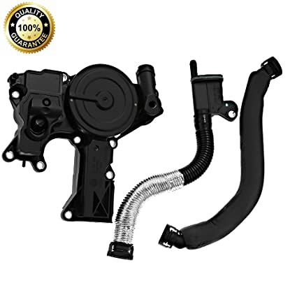 PCV Valve Oil Separator Engine Crankcase Vent Valve with with Breather Hose Kit for VW Jetta