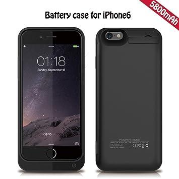 Cargador de batería del iPhone 6S, KINGCOO® 5800mAh portátil ...