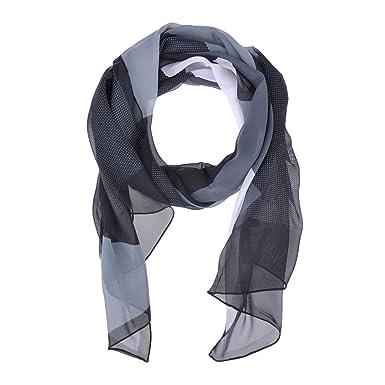 HuaYang 1Pcs Mousseline de soie carrée motif dentelle long Châle foulard  écharpe Cappa Cadeau parfait pour 2fcdb7211a0