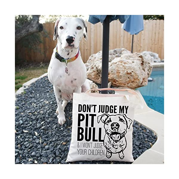 Don't Judge My Dog Tote Bag by Pet Studio Art 6