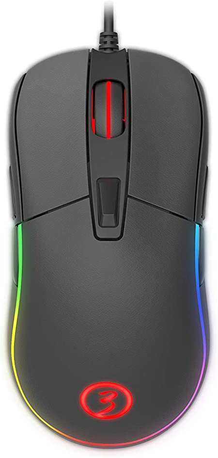 Raton Gaming Ozone NEON X40 - Raton para gamers competitivos - Sensor optico PMW 3330, Iluminación RGB, DPI 7200, Software Personalizable, Negro