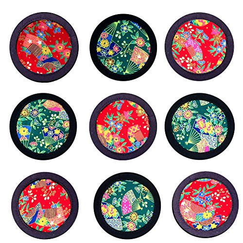 Coasters for Drinks,Chinese Folk Art Coasters Vintage Ethnic Floral Design