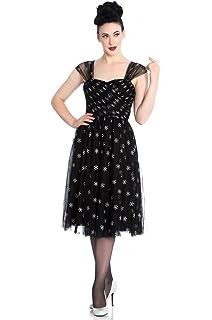 5257190830e Hell Bunny Yule Skull Christmas Alternative Mini Dress - UK 8 (XS ...