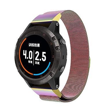 Bestow Garmin Fenix 5 Plus Reloj Correa de Banda MagnšŠtica milanesa de Correa de Acero Inoxidable Nuevo Reloj Reloj de Pulsera de Smart Electronics ...