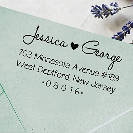PERSONALIZED YOUR NAME RETURN ADDRESS SELF INKING RUBBER STAMP FANCY TEXT
