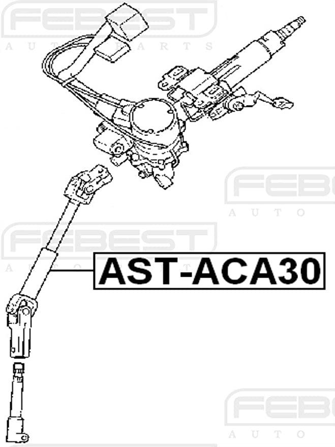 Amazon Com Febest Ast Aca30 Steering Column Joint Assembly Automotive