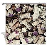Shower Curtain I love Wine Corks