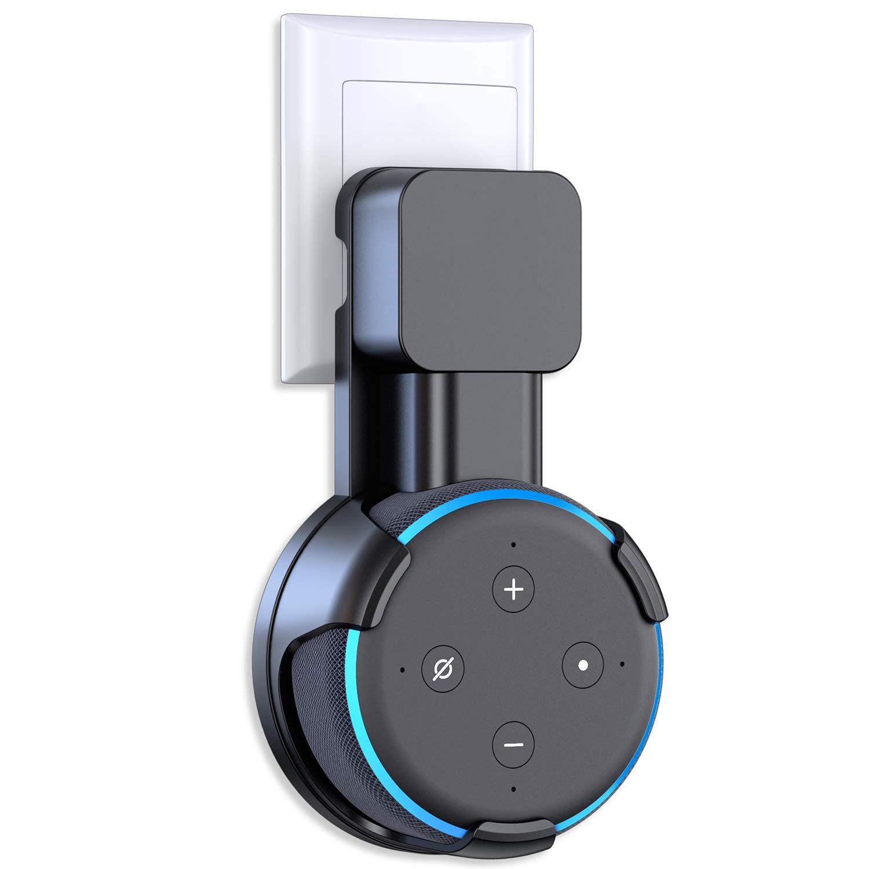 Cocoda Wall Mount Stand per Dot 3nd Generation, una Soluzione Salvaspazio per i Tuoi Altoparlanti Smart Home, Supporto da Parete per Dot 3 con Disposizione Cavo Nascondi Fili Disordinati (Nero) Echo Dot 3 Stand-Black