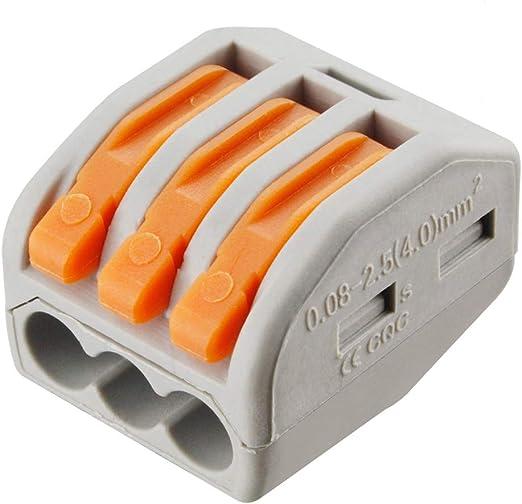 500 unidades Wago contacto tecnología tules 211-812 cable sistemas marcador plástico
