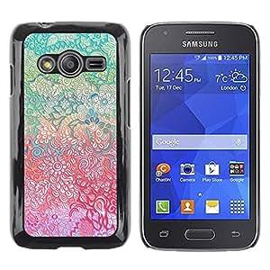 LECELL--Funda protectora / Cubierta / Piel For Samsung Galaxy Ace 4 G313 SM-G313F -- Pen Art Drawing Teal Pink --