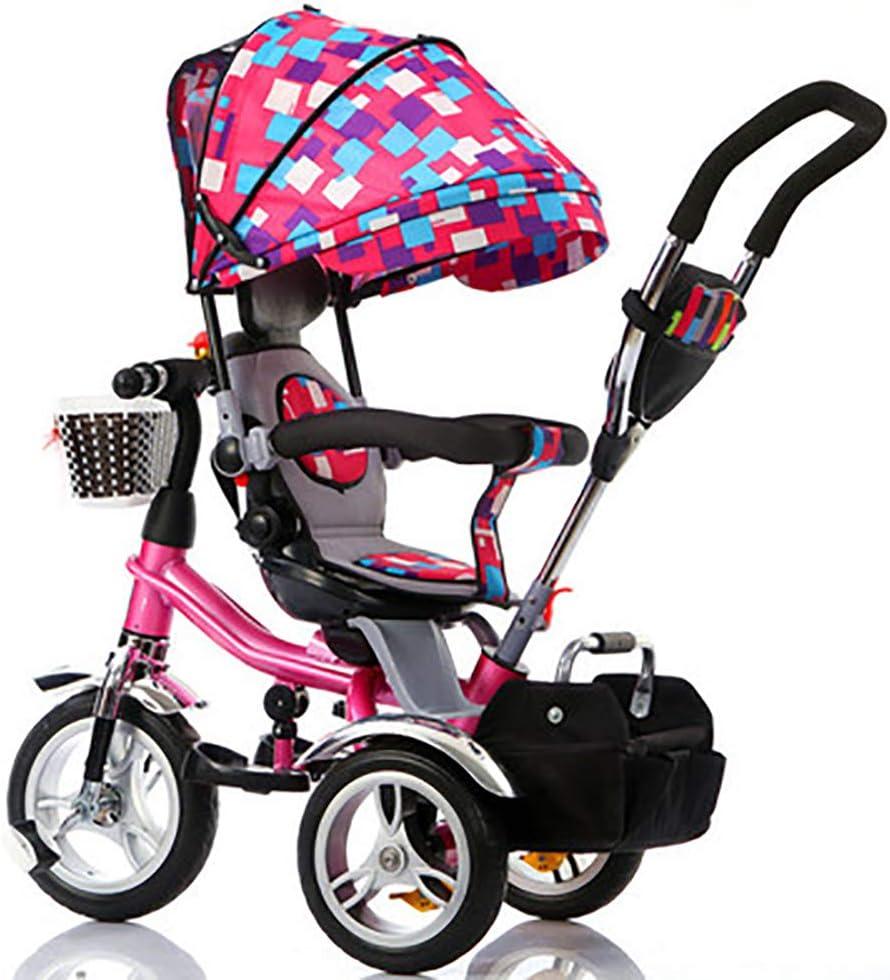 WSJWINE Triciclos para Niños Pequeños, Triciclos para Niños con Asa para Padres Triciclos 4 En 1 Triciclos Inteligentes con Cinturones De Seguridad Cochecito para Niños,Camouflage