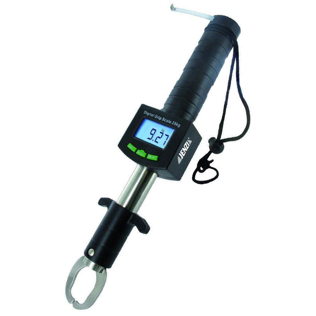 Jenzi - Atrapapeces con báscula digital (25 kg) con metro