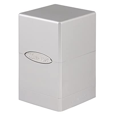 Ultra Pro Deck Box Satin Tower: Metallic Silver: Toys & Games