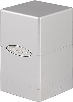 Ultra Pro- Deck Box Satin Tower: Metallic Silver by (UltraPro 84850): Amazon.es: Juguetes y juegos