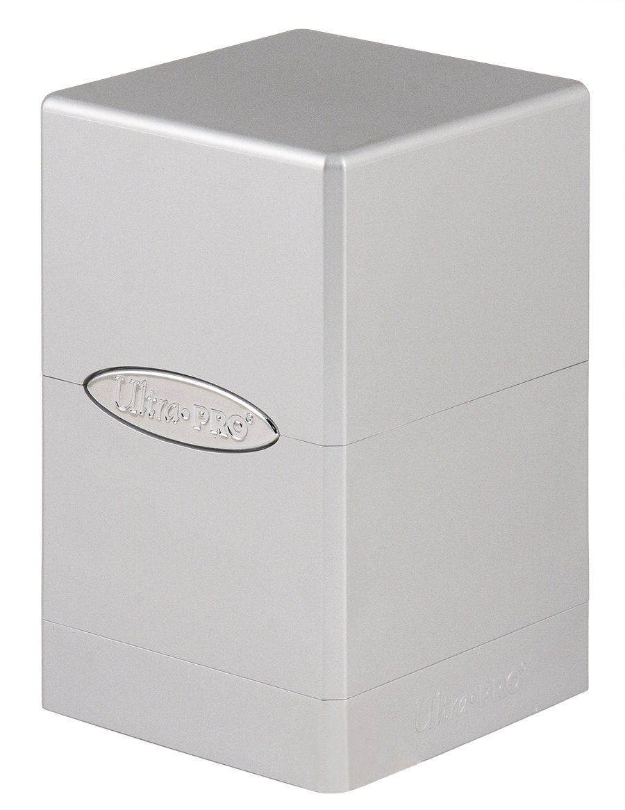 Ultra Pro Deck Box Satin Tower: Metallic Silver by Ultra Pro