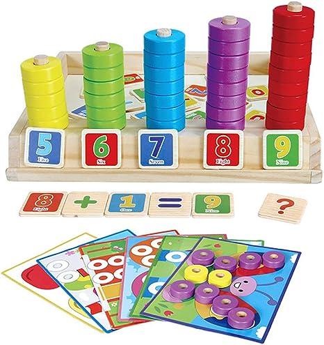 JW-YZWJ Montessori Early Learning Caja Multifuncional Diversión Rompecabezas de Aprendizaje aritmético Digital del Manguito de Aprendizaje de Placa Color de Juguetes: Amazon.es: Deportes y aire libre