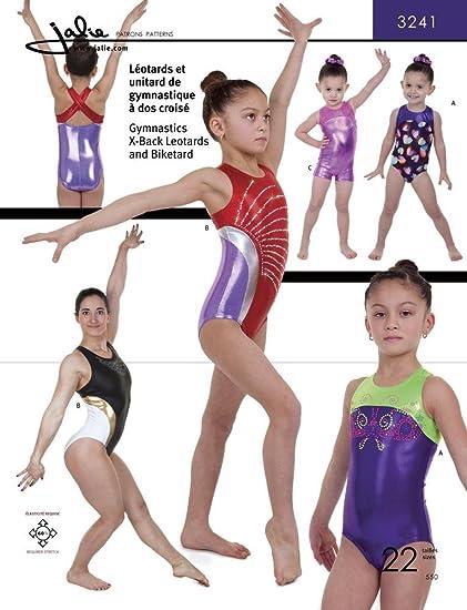 14f0783312d0 Amazon.com: Jalie Gymnastics X-Back Leotard Biketard Costume Sewing ...