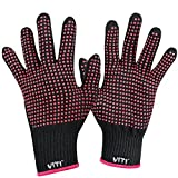 Heat Resistant Glove for Hair Styling, VITI Anti-Scald Heat Resistance Blocking Gloves for Flat Iron, Curling Wand and Hair Styling Tools