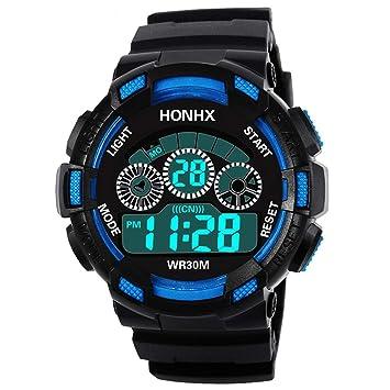 Joven Digital Relojes, niños Deportes 5 ATM Resistente al Agua Digital Relojes con Alarma/