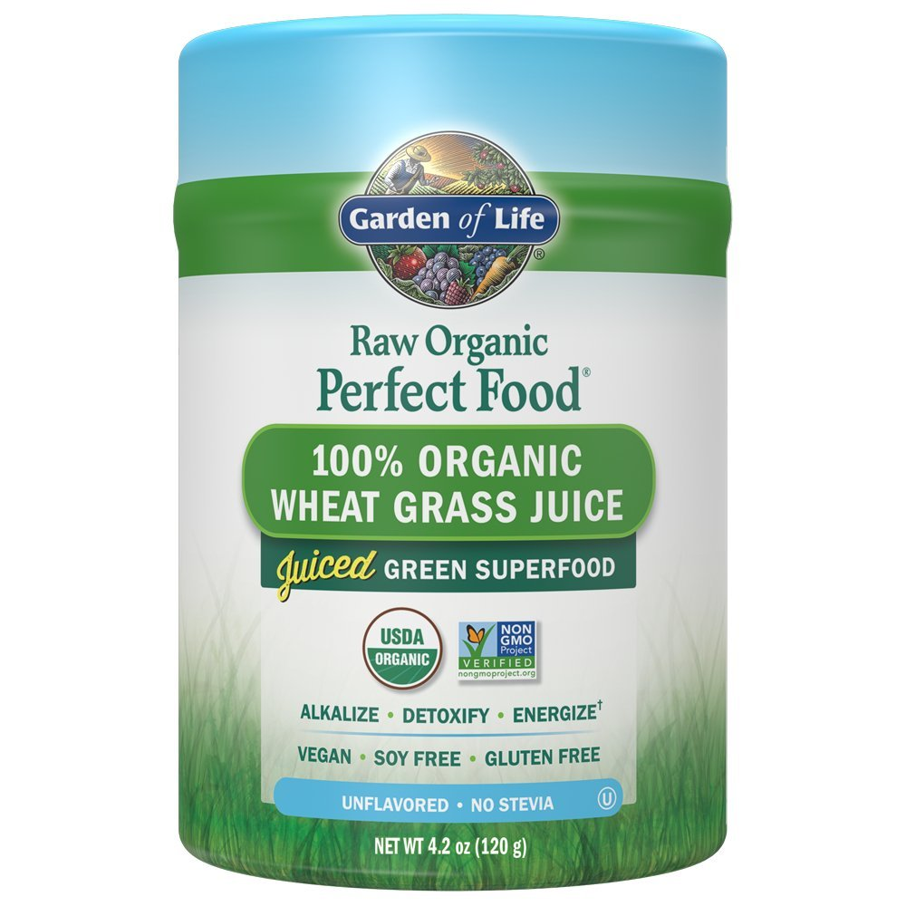 Garden of Life- Vegan Green Wheatgrass Supplement Powder