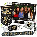 Facial Fillers Las Vegas - Vegas Golden Knights Deluxe Variety Set with Nail File, Mint Tin, Mini Mirror, Magnet Frame, Lip Shimmer, Lip Balm, Sanitizer. NHL gifts for women Mother's Day, Stocking Stuffers