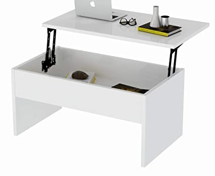 Lift Top Coffee Table White 1
