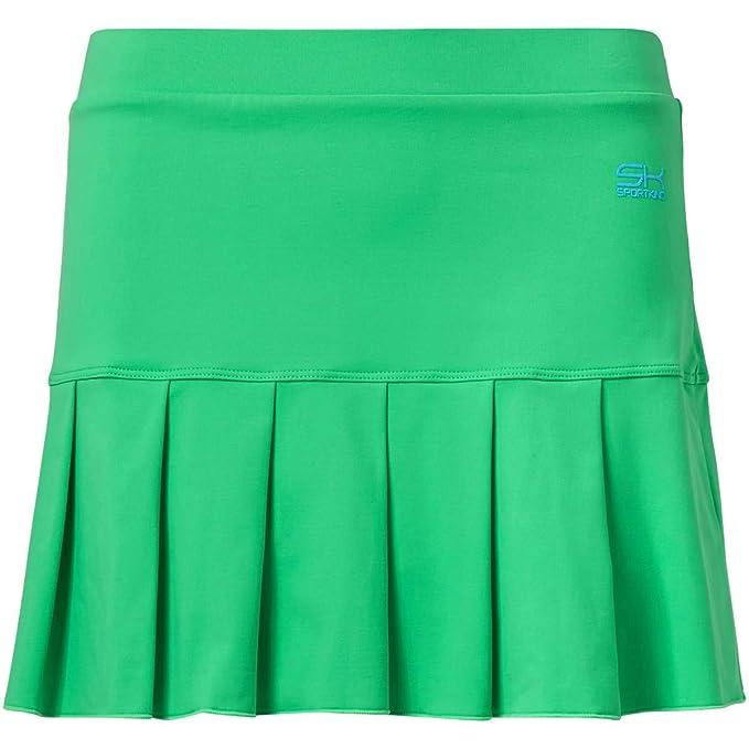 Falda corta deportiva de color verde neón