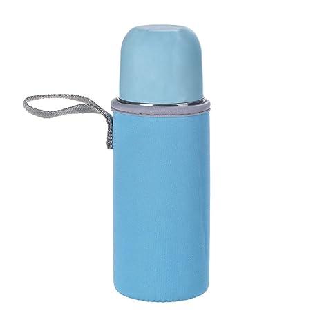 FAMILIZO Tazas Bolsa De Plástico Transparente Botella De Agua Bolso Portátil Luz Azul