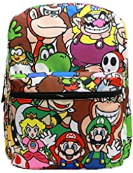 16 Super Mario All Over Print School Backpack