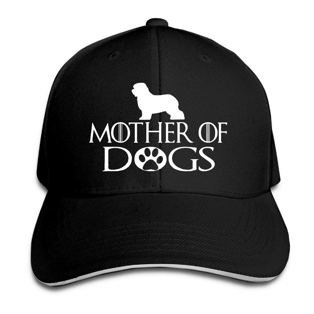 Mother of Dogs Old English Sheepdog Outdoor Snapback Sandwich Cap Adjustable Baseball Hat Trucker Cap