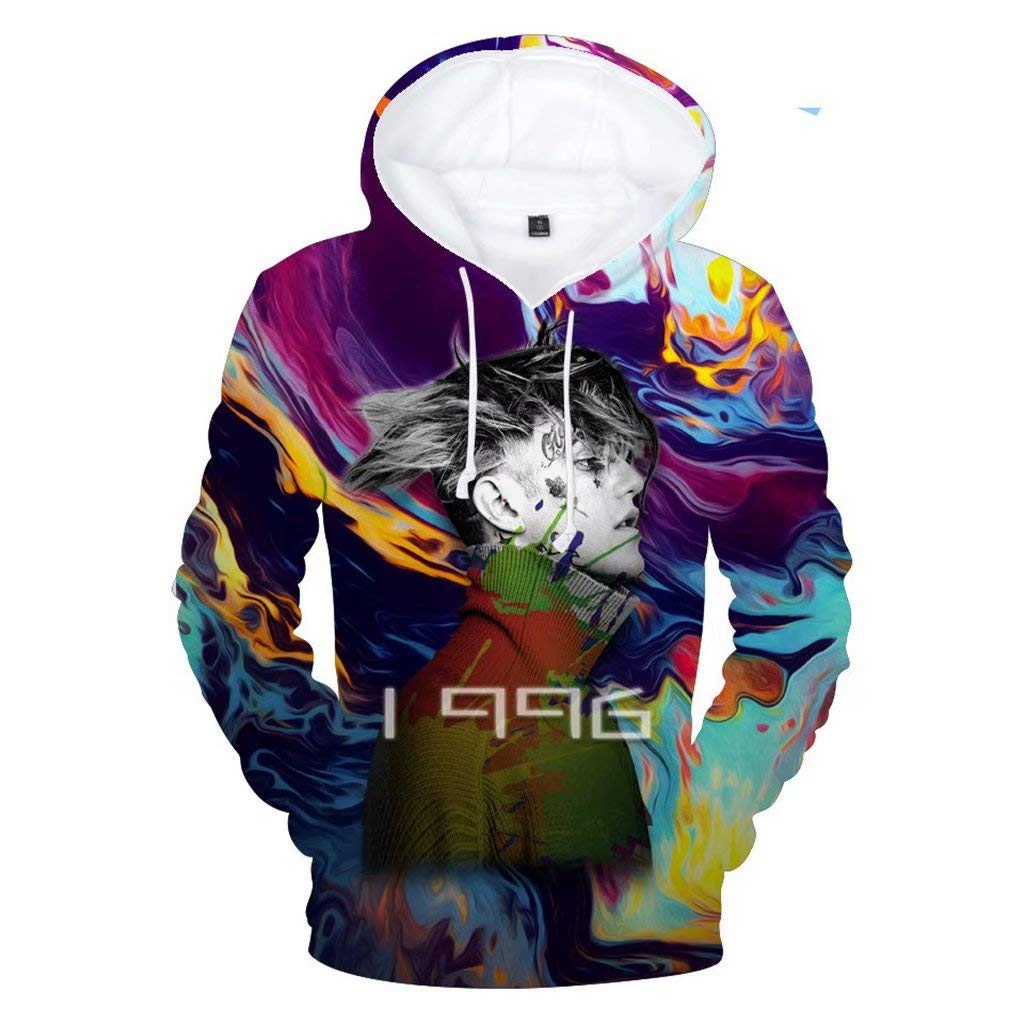 Aopostall LiPeep 3D Hoodie Love Printed Fashion Sport Hip Hop Sweatshirt Pocket Pullover Tops