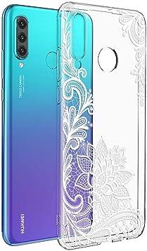ZhuoFan Coque Huawei P30 Lite / P30 Lite New Edition, Etui en Silicone 3D Transparente avec Motif Dessin Antichoc TPU Housse de Protection Case Cover ...