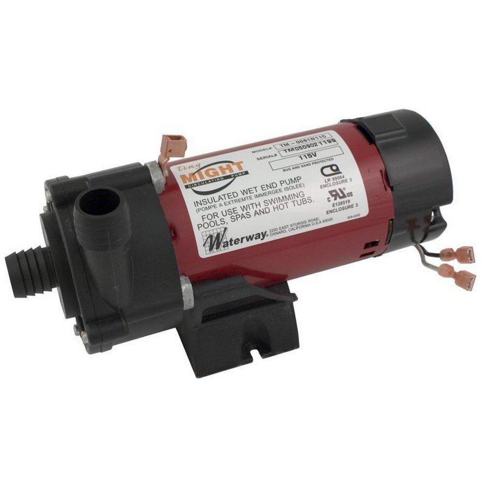 "1/"" Barb x 1/"" Barb 230V 3312620-19 Waterway Tiny Might 1//16HP Spa Pump"