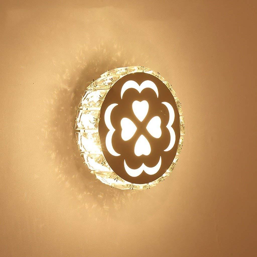 Wandleuchte,Wandleuchte Schlafzimmer Lampe einfach Modern Creative Flower Style Wohnzimmer Flur Gang lampe led crystal Nachttischlampe (Farbe  D)