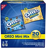 Oreo Mini Sandwich Cookies Mix - Golden & Original Snack Packs Variety, 20 Count Box, 20 Ounce