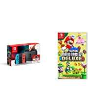 Nintendo Switch Neon Red/Blue with New Super Mario Bros. U Deluxe