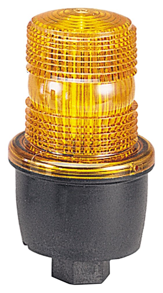 Federal Signal LP3PL-120A Streamline Low Profile Steady Burning LED Light, Pipe Mount, 120 VAC, Amber