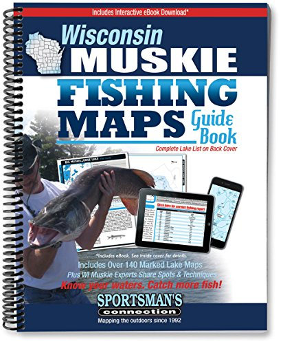 Wisconsin Muskie Fishing Map Guide (Fishing Maps from Sportsman's Connection)