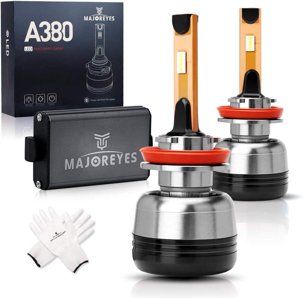 HB3 Conversion Kit,2 Years Warranty LED Headlight Bulbs,CREE Chips-(60W-10000LM-6000K MAJOREYES 9005