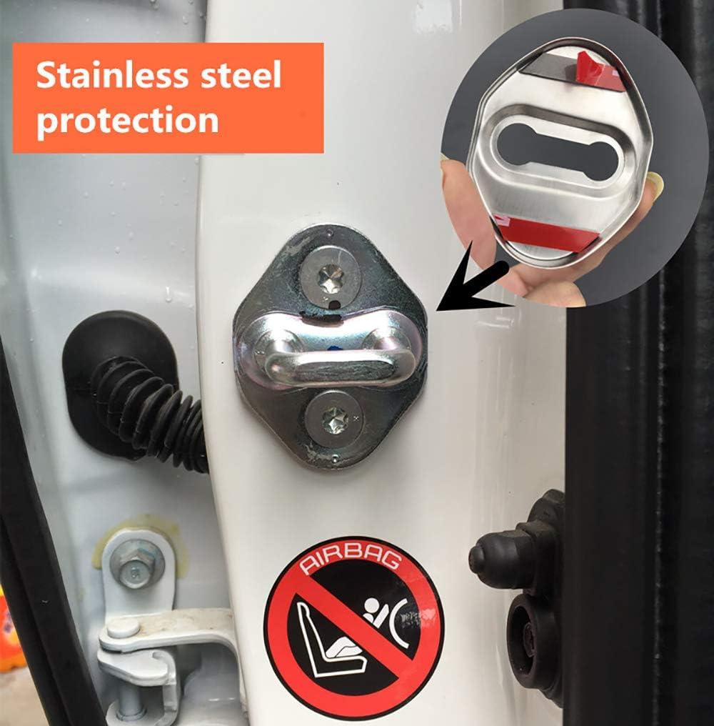 N//A 4Pcs Car Styling T/ürschlossabdeckung F/ür Mazda CX-3 CX-4 CX-5 CX-7 CX-8 CX-9 CX-30 ATENZA AXELA Door Lock Cover T/ürschloss-Schlie/ßkappe Edelstahl Auto Protection Zubeh/ör