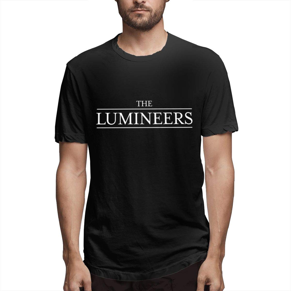 Lihehen Mans The Lumineers Logo Retro Printing Round Neck Tees Shirts