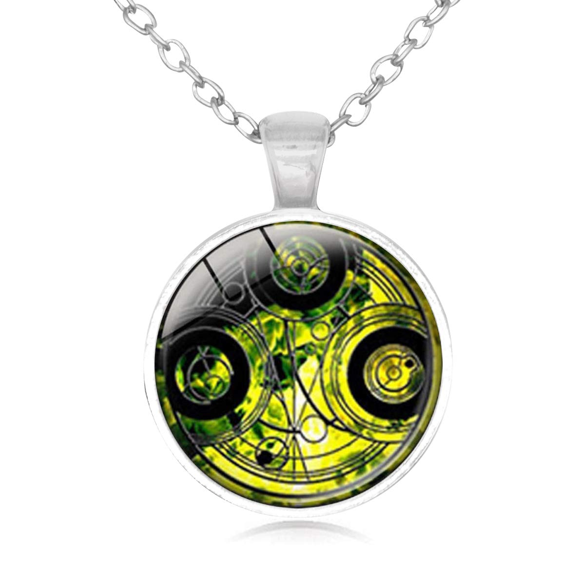 Family Decor Doctor Who Time Lord Language Pendant Necklace Cabochon Glass Vintage Bronze Chain Necklace Jewelry Handmade