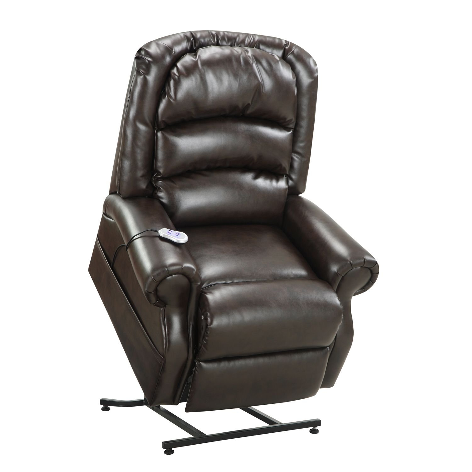 Leather lift chairs - Amazon Com Home Meridian Hayden Power Lift Chair With Heat Massage Chocolate Bonded Leather Health Personal Care