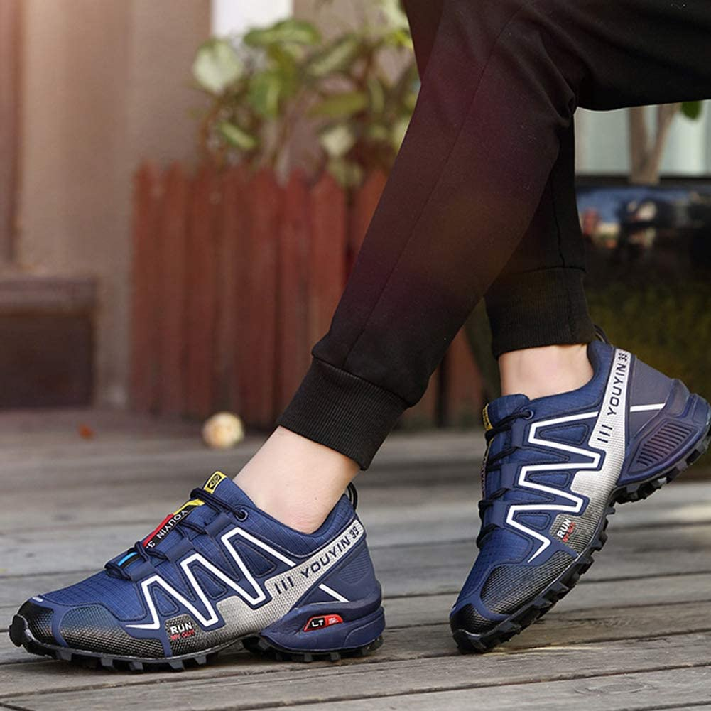 Hiking Shoes Mens mesh Sports Off-Road Outdoor shoes-Royalblue-45