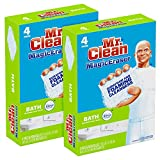 Mr. Clean Magic Eraser Bath Scrubber, 4-Count (Pack of 2)