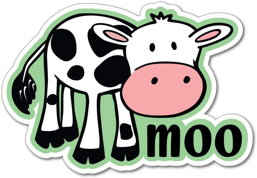Cow moo Cute Friends not Food Vegan Vegetarian Farm Car Sticker Decal