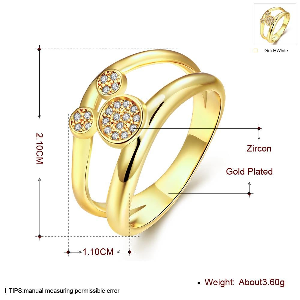 Ros/égold K Gold Armband Exquisite Kristall Mickey Mouse Design Modelle Damen Ring 8